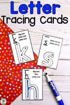 Do you have auditory learners that need to hear how letters are formed as they practice writing them? Using these Letter Tracing Cards, your students will read (or listen as you read) how each letter is formed. They will then practice writing the letter as they repeat how they are formed for multisensory learning. This alphabet activity includes both lowercase and capital letter cards perfect for preschoolers, kindergartners, and first graders. Click on the picture to learn more! #lettercards