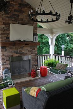 Trex Deck with Gas Fireplace