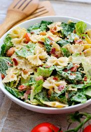 Blt pasta salad recipes to try: рецепты пасты, салаты, еда и Healthy Recipes, Healthy Cooking, Healthy Eating, Good Salad Recipes, Mama Cooking, Cooking Lamb, Cooking Turkey, Cooking School, Healthy Dishes