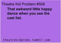 [ theatre kid problems ] cant wait till Thursday!!!!