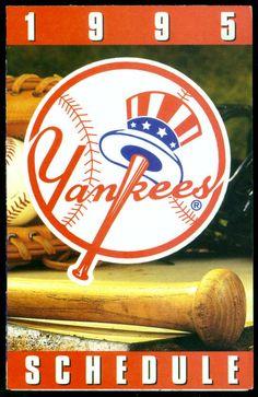 NEW YORK YANKEES 1995 BUDWEISER ICE LIGHT BASEBALL SCHEDULE EX+MT FREE SHIPPING #Schedule