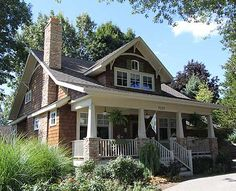 The Red Cottage Floor Plans, Home Designs, Commercial Buildings, Architecture, Custom Plan Design - ICF - The Arts and Crafts Bungalow Craftsman Style Homes, Craftsman Bungalows, Craftsman House Plans, Modern Craftsman, Bungalow Homes Plans, Craftsman Bungalow Exterior, Bungalow Floor Plans, Craftsman Cottage, Modern Bungalow House Plans