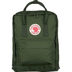 Amazon.com: Fjallraven Kanken Classic Backpack Daypack Forest Green:... (€68) ❤ liked on Polyvore featuring bags, backpacks, forest green backpack, day pack backpack, rucksack bag, knapsack bags and fjallraven bags