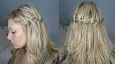 Hairstyle - Half Up Waterfall Braid On Yourself!