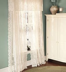 Perfect Dainty Lace Curtains For A Little Girls Room