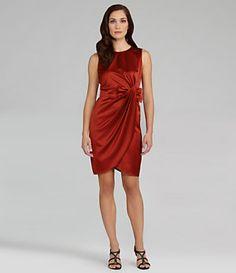 Marina Sleeveless Satin Bow-Waist Dress | Dillard's Mobile