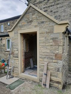 Stone Porches, Porch Extension, Porch Canopy, House With Porch, House Extensions, Pure Beauty, New Builds, Home Renovation, Cottage Style