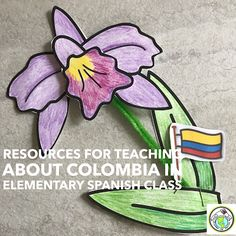 Resources for Teaching about Colombia in Elementary Spanish Class- Introduce Colombia to your preschool and elementary Spanish classes with these resources ideas! Middle School Spanish, Elementary Spanish, Elementary Teacher, Elementary Schools, Spanish Phrases, How To Speak Spanish, Spanish Language, Dual Language, Learn Spanish
