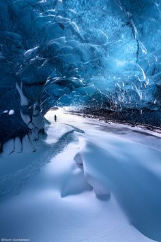 Ice Cave Wave by Snorri Gunnarsson on 500px... #blue #glacier #ice