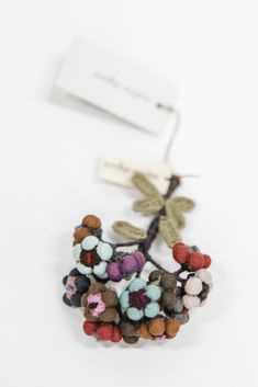 Sophie Digard | Alpine Brooch | Aubergine Appreciation, Delicate, Hair Accessories, Textiles, Construction, Brooch, It Is Finished, Deep, Colour