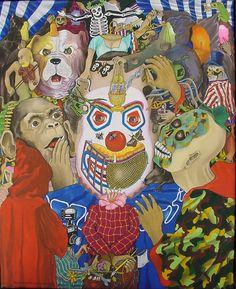 """Dagoberto NOLASCO : """"Variación sobre les Estrategas"""" ; 1990 ; acrílico sobre tela ; 52cm x 41cm ; colección MDAA (adquirido del artista en Enero 1991)"""