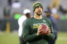Thursday Night Football: Bears vs. Packers  -  October 20, 2016  -  26-10, Packers  - Quarterback Aaron Rodgers #12 of the Green Bay Packers warms up before a game against the Chicago Bears at Lambeau Field on Oct. 20, 2016 in Green Bay, Wisconsin.