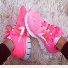 Nike women's hot pink size 7 free runs In very good condition Nike size 7 free runs . Nike Shoes Sneakers