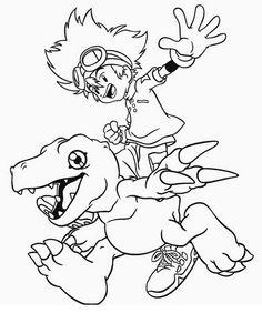 Desenhos para pintar Digimon 36