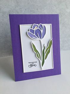 I have made a couple cards using the beautiful new Simon Says Stamp Crocus Flower die set from their latest release, Lucky to Know You . Simon Says Stamp Blog, Little Valentine, Heart Frame, Cricut Cards, Mothers Day Cards, My Stamp, Flower Cards, Making Ideas, Thank You Cards