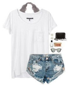 """Untitled #126"" by txgrace ❤ liked on Polyvore featuring rag & bone, One Teaspoon, Ray-Ban, Bobbi Brown Cosmetics, Rebecca Minkoff, Estée Lauder and Kendra Scott"
