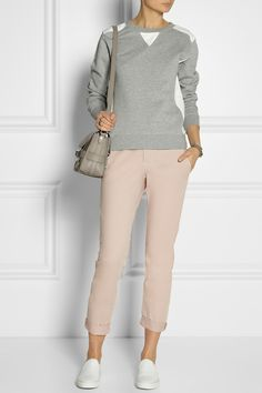 J Brand|Inez mid-rise cotton tapered pants|NET-A-PORTER.COM
