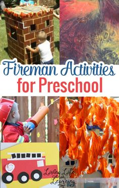 Fireman Activities for Preschool via @Moniksca