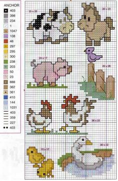 Cross stitch patterns - Not in English but the pattern images are easy to follow.