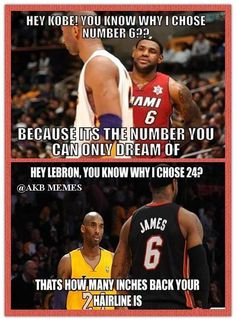 Lebron vs Kobe lol - http://weheartchicagobulls.com/nba-funny-meme/lebron-vs-kobe-lol
