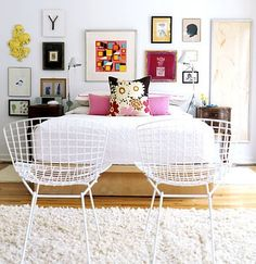 splashes of color with white.