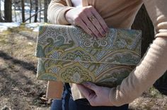 Spring Sprout Clutch, $30, by Unshattered on Etsy. Your purchase supports women at the Walter Hoving Home rebuilding their lives shattered by addiction. Check us out at Unshattered.org!