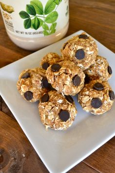 These little bites will give you lasting energy. They are filled with great nutrients through protein powder, powdered peanut butter, flax seeds and oats!