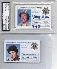 LARRY WILCOX Signed ID Badge CHiPS Highway Patrol TV Show & ERIK ESTRADA PSA/DNA Larry Wilcox, Chip Costume, California Highway Patrol, 70s Tv Shows, Men In Uniform, Old Tv, Disney Pictures, Fire Trucks, Cute Guys