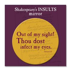 What the Dickens? Writing & Literary Gifts: New stock in this week...Shakespeare's Insults is back and more!