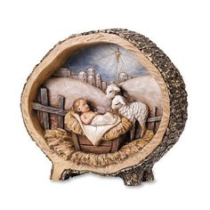 Baby Jesus With Lamb Rustic Nativity Figure Christmas Gift Home Decor Church