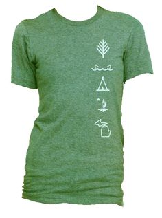 Camping In Michigan Graphic TShirt Belle 100 by HonestEmporium, $14.00