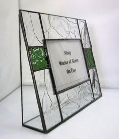 Woodland Garden Inspired Stained Glass by shopworksofglass on Etsy, $45.00