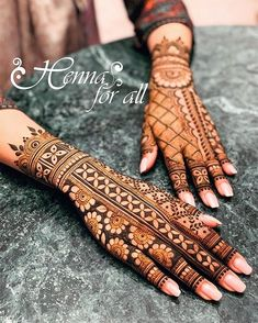 Mehndi is used for decorating hands of women during their marriage, Teej, Karva Chauth. Here are latest mehndi designs that are trending in the world. Easy Mehndi Designs, Henna Hand Designs, Dulhan Mehndi Designs, Latest Mehndi Designs, Mehndi Designs Finger, Wedding Mehndi Designs, Mehndi Designs For Fingers, Henna Tattoo Designs, Henna Mehndi