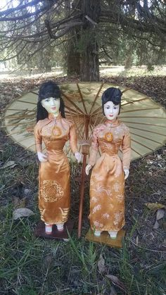 Check out this item in my Etsy shop https://www.etsy.com/listing/265101576/15-two-beautiful-oriental-sisters-1950s