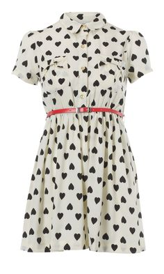 Primark Heart Print Shirt Dress. Me and my obsession over heart printa