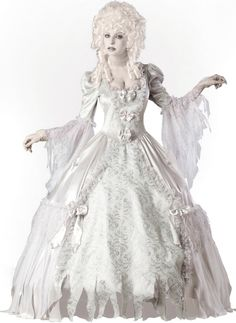 You can quit browsing for Halloween costumes for women now. You've struck gold. This Corpse Countess Adult Women's Costume is an astounding way to make your Halloween night a haunting experience no matter where you're headed. Costumes Sexy Halloween, Soirée Halloween, Ghost Costumes, Halloween Fancy Dress, Adult Costumes, Costumes For Women, Women Halloween, Spirit Costumes, White Costumes
