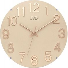 Nástenné hodiny JVD HT98.3, 30cm Gold, Clock, Decor, Products, Diamond, Cream Paint, Desk Clock, Pointers, Wall Clocks