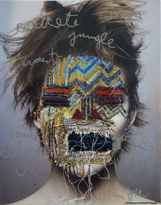 Embroidery-Overlayed Photos by Joe Romussi