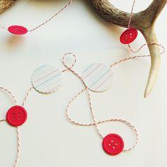notepaper+button garland