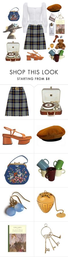 """peasant blouse"" by saddleshoes ❤ liked on Polyvore featuring Gucci, RCA, STELLA McCARTNEY, Tiffany & Co., Hermès and Wedgwood"