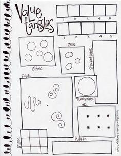 T. Matthews Fine Art: First Friday Art Class for March 2014 - Value Tangles