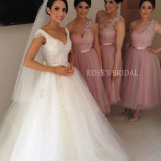 2016 Wedding Party Dresses One Shoulder Lace Pink Short Bridesmaid Dresses Cheap Tulle Illusion Neck Graduation Dresses Pink Bridesmaid Dresses Short, Tulle Bridesmaid Dress, Bridesmaids, Sexy Dresses, Evening Dresses, Prom Dresses, Graduation Dresses, Girls Dresses, Cheap Tulle