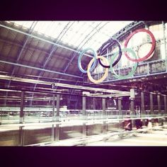 St Pancras station, London.