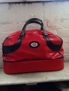 RED SABRE Vintage Leather Holdall by UnexampledVintage on Etsy