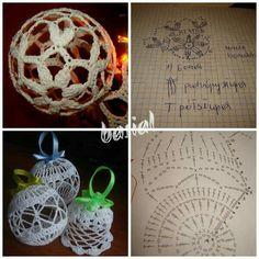Marie O'Riordan's media content and analytics Crochet Christmas Ornaments, Holiday Crochet, Crochet Snowflakes, Christmas Baubles, Christmas Decorations, Crochet Ball, Crochet Decoration, Lace Decor, Flower Applique