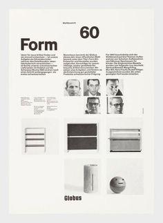 Form 60 Globus – Objekte – Siegfried Odermatt – Biografien – eMuseum Layout Design, Web Design, Book Design, Print Design, Editorial Layout, Editorial Design, International Typographic Style, International Style, Swiss Design