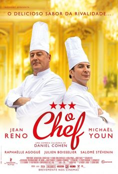The Chef / Comme Un Chef Directed by Daniel Cohen / Music by Nicola Piovani / Starring Jean Reno and Michaël Youn. Jean Reno, Film Logo, Comme Un Chef, Le Chef, 2012 Movie, Movie Tv, Happy Movie, Foreign Movies, French Movies