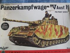 1970's Bandai 1/48 Scale Panzerkampfwagen IV Ausf. H Model by MyHillbillyWays on Etsy