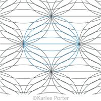 Digitized Longarm Quilting Design Optical Illusion Orange Peels was designed by Karlee Porter.