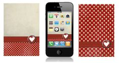 How did I not know about iPhone wallpapers?!  Cute for valentines day